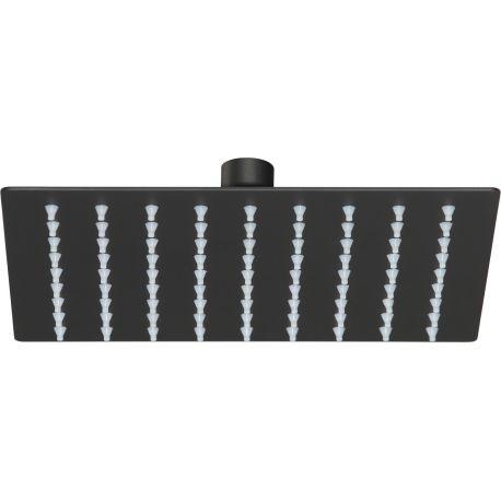 Rociador de ducha negro mate 20 x 20 cm extraplano antical
