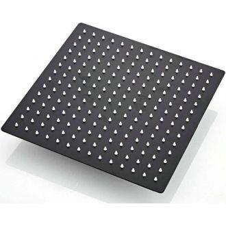 Rociador de ducha negro mate 25 x 25 cm extraplano antical