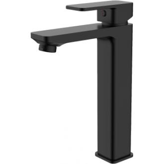 Grifo de lavabo pica alto negro mate monomando serie skara