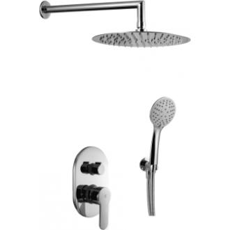 Conjunto de ducha empotrado a pared serie Omnia