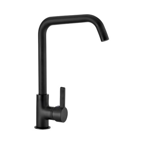Grifo de cocina monomando vertical negro mate serie Momo