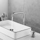 Grifo lavabo alto pica cromado monomando giratorio