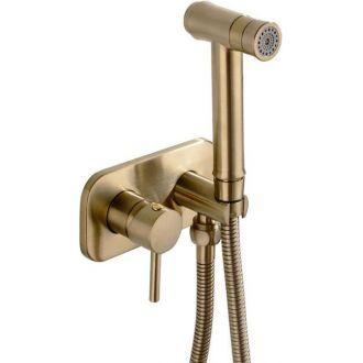 Grifo bidet empotrado dorado cepillado agua fría y caliente monomando
