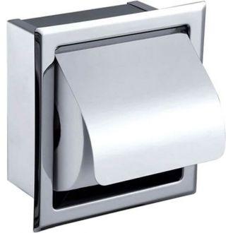 Portarrollos para papel higiénico empotrado acero inoxidable SUS304 cromo