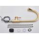Grifo de cocina dorado cepillado extraible monomando giratorio