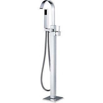 Grifo bañera exenta cuadrada autoportante independiente pie a suelo
