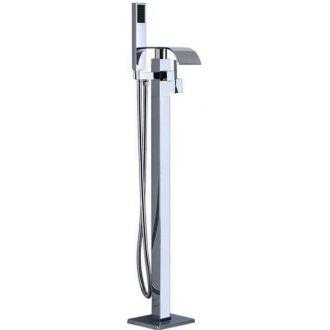 Grifo de bañera cascada autoportante independiente pie a suelo