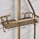 Cesta ducha dorado envejecido vintage de acero inoxidable retro