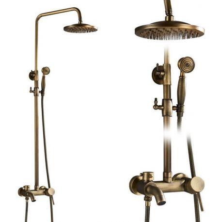 Barra de bañera vintage  dorado envejecido monomando oro viejo