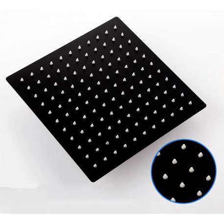 Rociador ducha negro mate 20-25-30-40cm extraplano