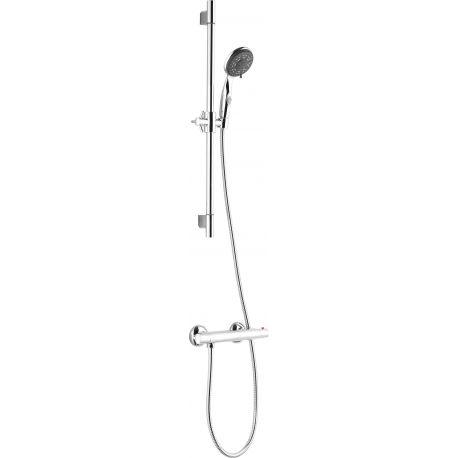Grifo termostático con barra de ducha