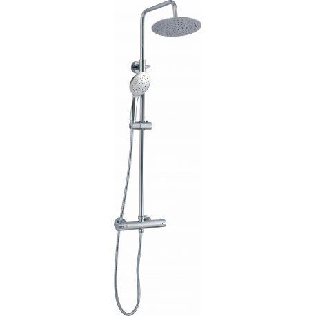 Barra de ducha  termostatica  redonda acero inoxidable